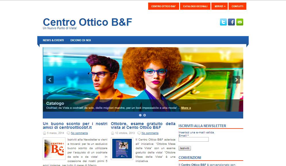 Centro Ottico B&F – Nuovo Sito targato Chinoweb