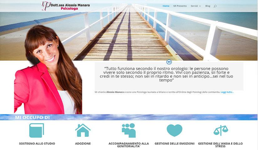 Alessia Manara Psicologa – Nuovo sito targato Chinoweb